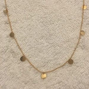 Gold Sequin Necklace Strand